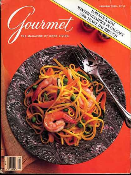 Gourmet - January 1988