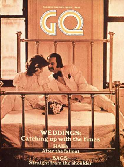 GQ - April 1971 - Weddings: Catching up with the times