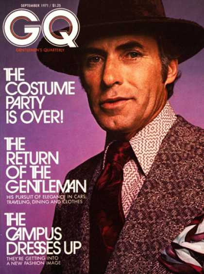 GQ - September 1971 - The Return of the Gentleman