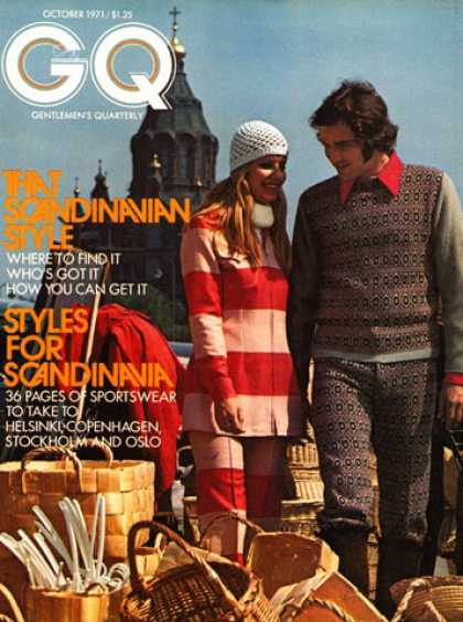 GQ - October 1971 - Scandinavia