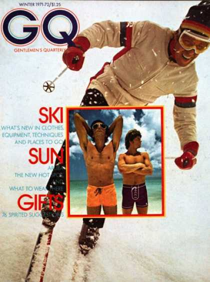 GQ - Winter 1971-72 - Ski, Sun, Gifts