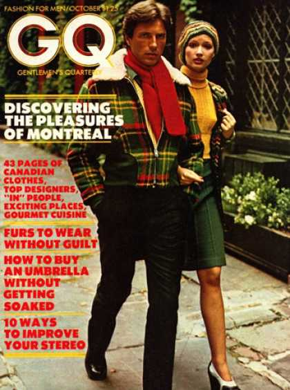 GQ - October 1973 - Montreal