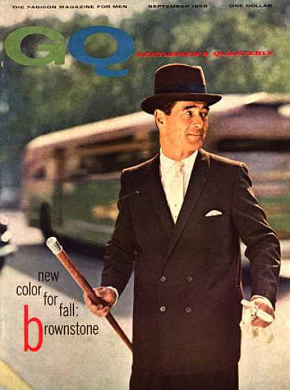 GQ - September 1958 - Brownstone