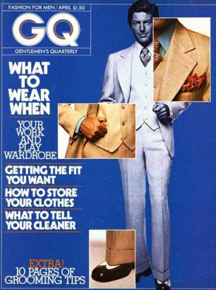 GQ - April 1974 - What to Wear When