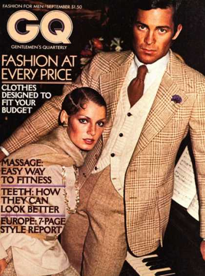 GQ - September 1974 - Fashion at every price