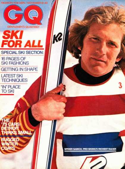 GQ - November 1974 - Ski for all