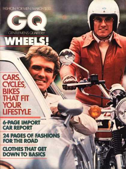 GQ - March 1975 - Cars, Cycles, Bikes That Fit Your Lifestyle