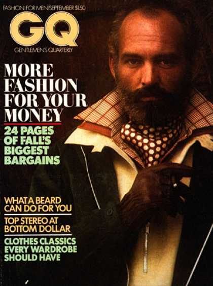 GQ - September 1975 - What a beard can do for you