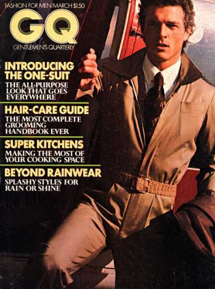 GQ - March 1976 - One-Suit
