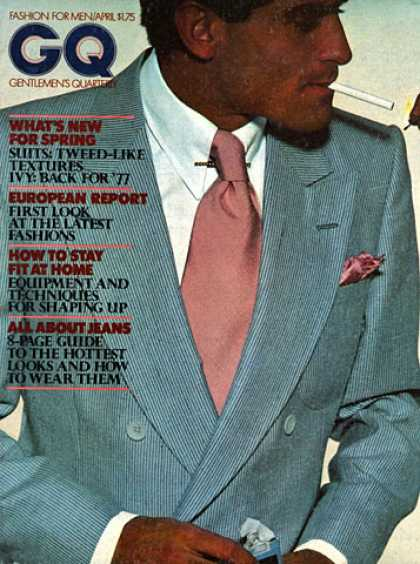GQ - April 1977 - What's New For Spring
