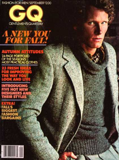 GQ - September 1977 - A New You for Fall