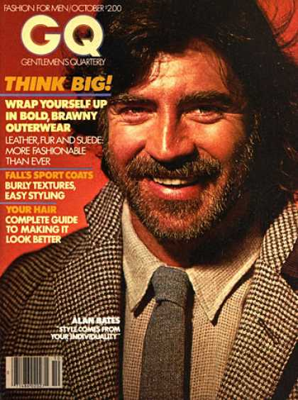 GQ - October 1978 - Alan Bates