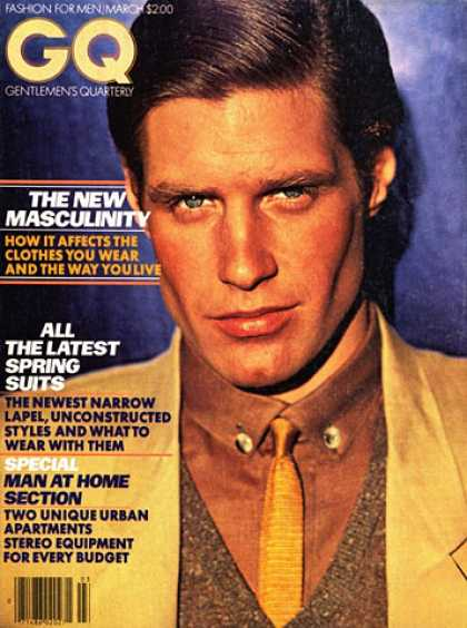 GQ - March 1979 - The New Masculinity