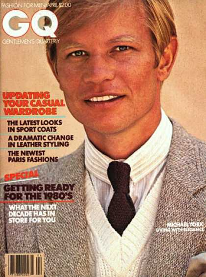 GQ - April 1979 - Michael York