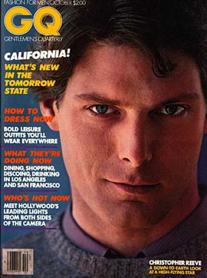 GQ - October 1979 - Christopher Reeve