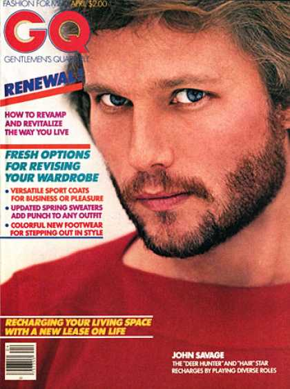 GQ - April 1980 - John Savage