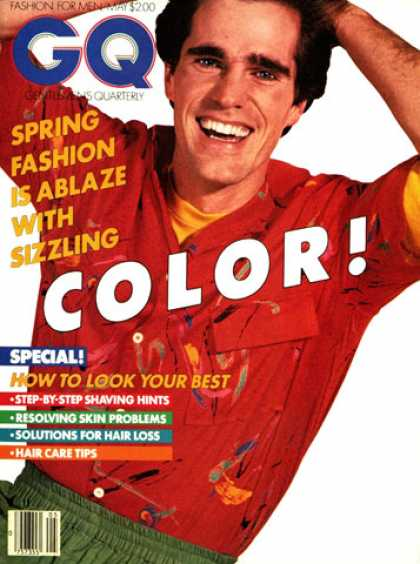 GQ - May 1980 - Color!
