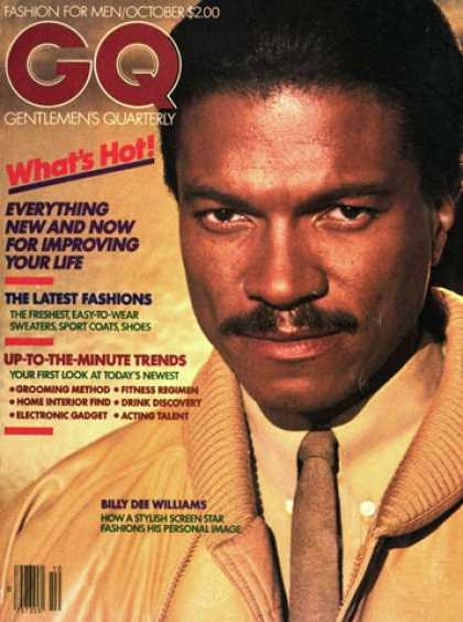 GQ - October 1980 - Billy Dee Williams