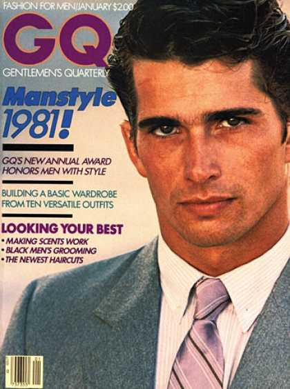 GQ - January 1981 - Manstyle