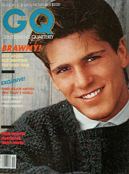 GQ - November 1981 - Brawny! Hot looks for fighting the Cold War