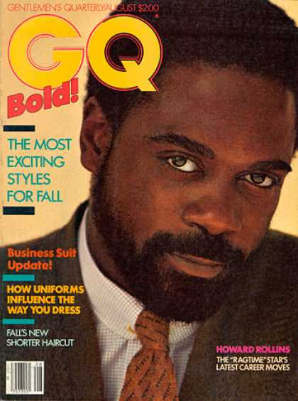 GQ - August 1982 - Howard Rollins