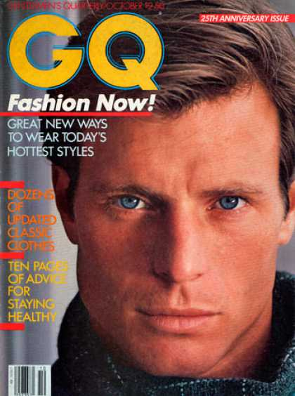 GQ - October 1982 25th Anniversary Issue - Fashion Now