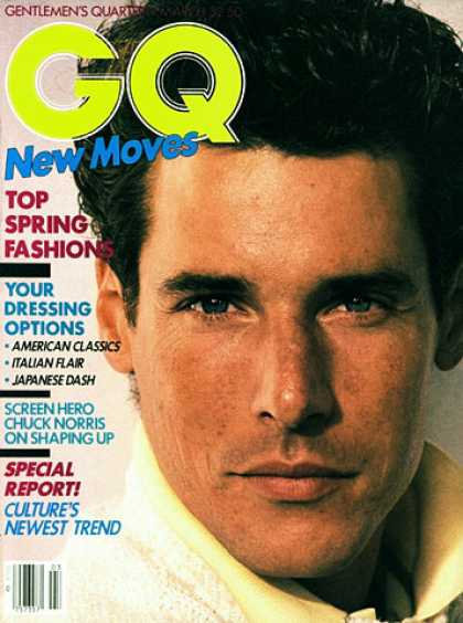 GQ - March 1983 - New Moves