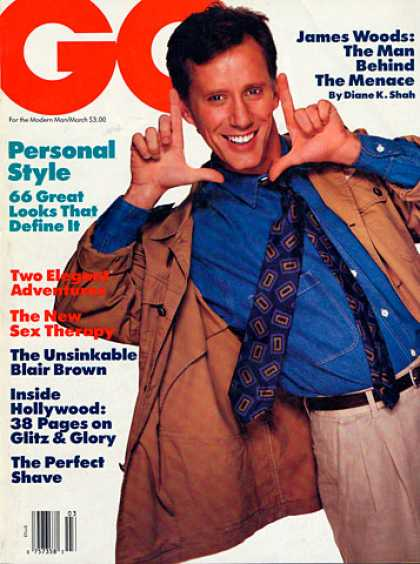 GQ - March 1988 - James Woods