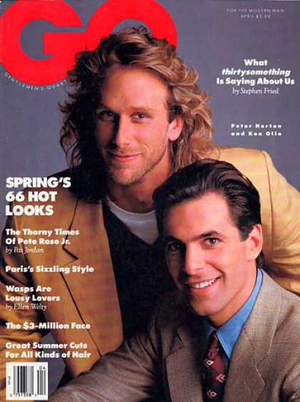 GQ - April 1989 - Peter Horton