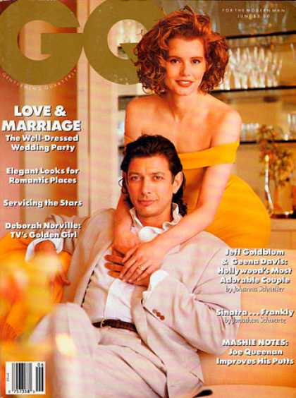 GQ - June 1989 - Jeff Goldblum & Geena Davis