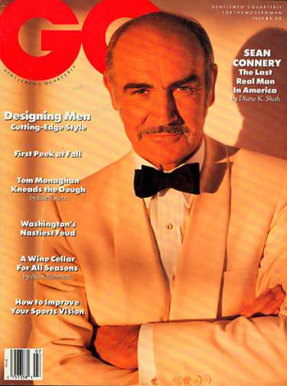 GQ - July 1989 - Sean Connery