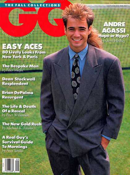 GQ - September 1989 - Andre Agassi