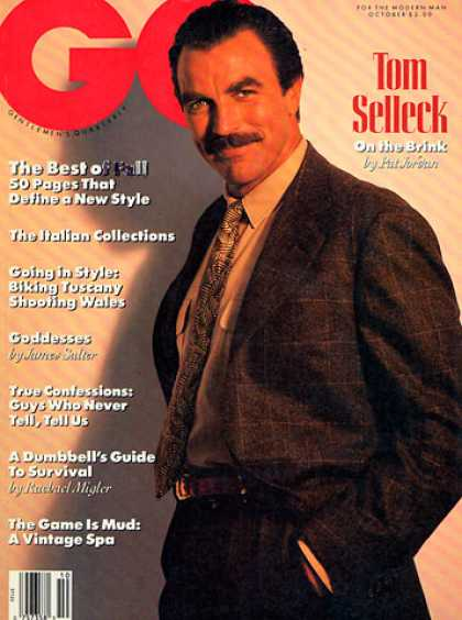 GQ - October 1989 - Tom Selleck