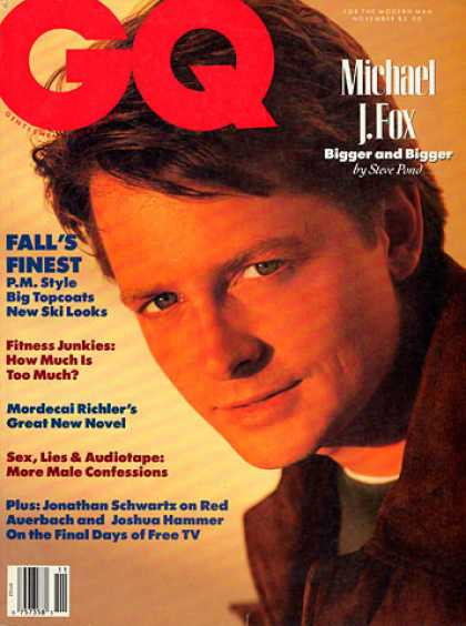 GQ - November 1989 - Michael J. Fox