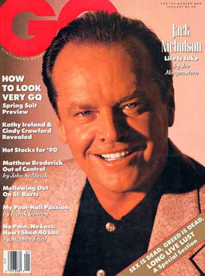 GQ - January 1990 - Jack Nicholson