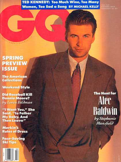 GQ - February 1990 - Alec Baldwin