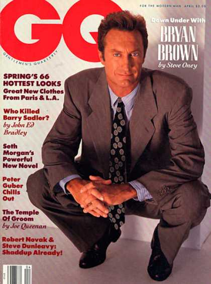 GQ - April 1990 - Bryan Brown