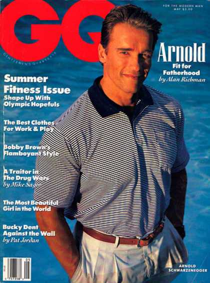 GQ - May 1990 - Arnold Schwarzenegger