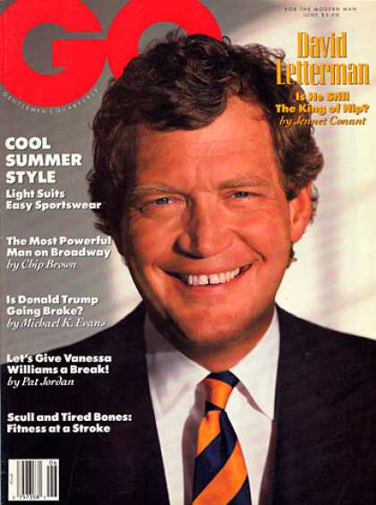 GQ - June 1990 - David Letterman