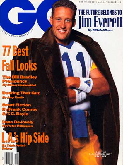 GQ - September 1990 - Jim Everett