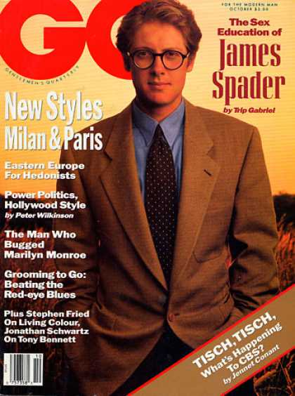 GQ - October 1990 - James Spader