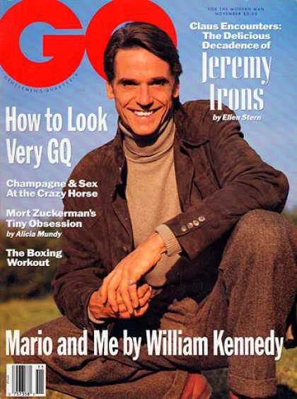 GQ - November 1990 - Jeremy Irons