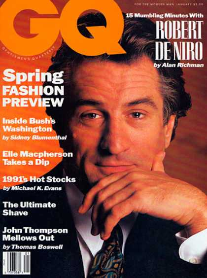 GQ - January 1991 - Robert De Niro