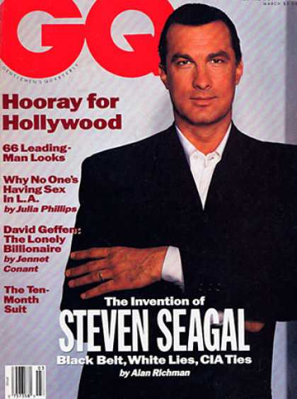 GQ - March 1991 - Steven Seagal