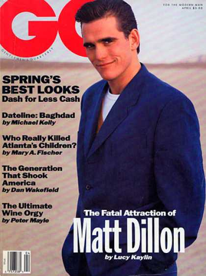 GQ - April 1991 - Matt Dillon