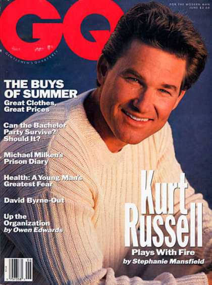 GQ - June 1991 - Kurt Russell