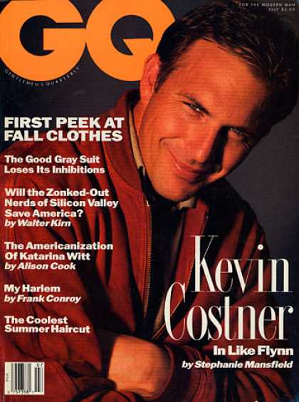 GQ - July 1991 - Kevin Costner