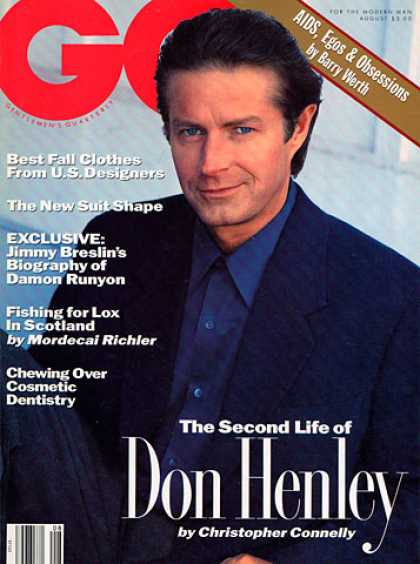GQ - August 1991 - Don Henley