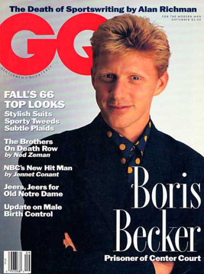 GQ - September 1991 - Boris Becker