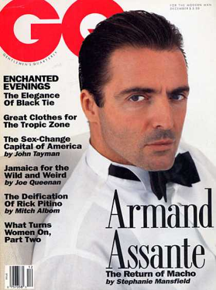 GQ - December 1991 - Armand Assante